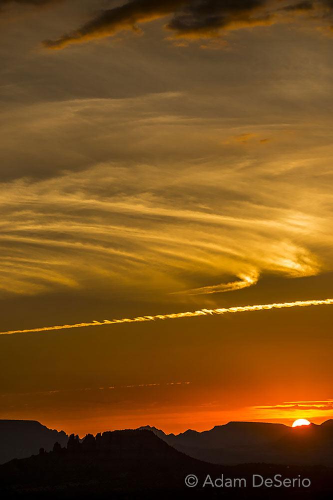 Sunset Abstract Sedona, Arizona