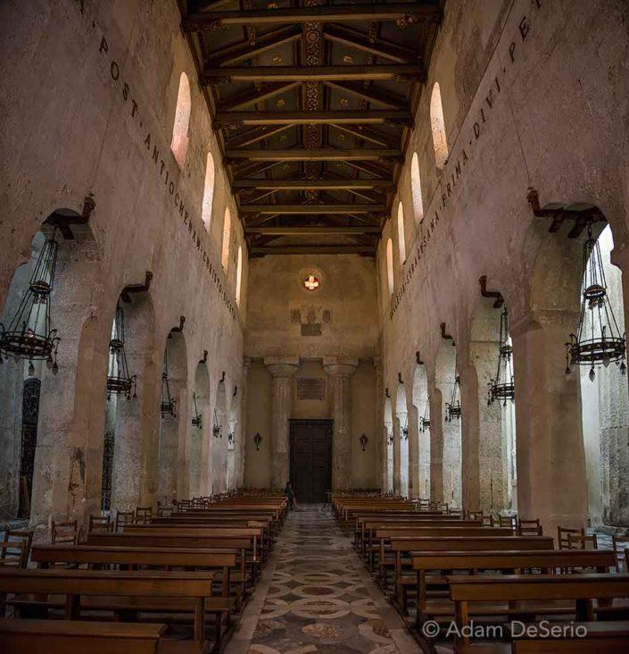 Inside Syracusa Duomo