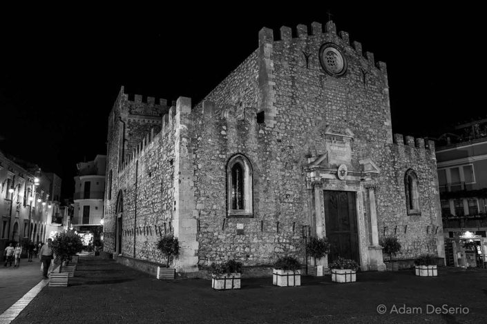 Taormina Night Castle
