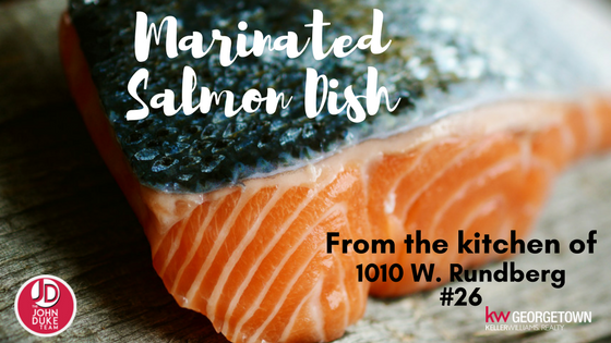 marinated salmon dish