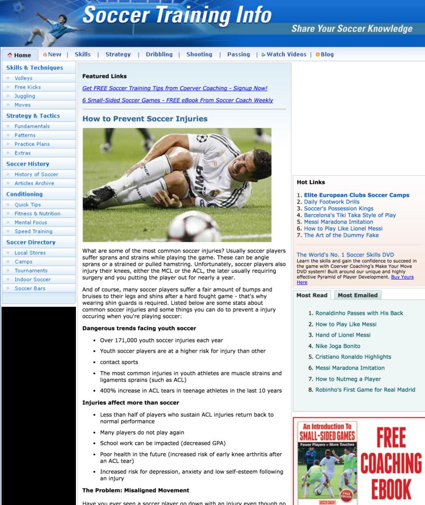 stop soccer injuries