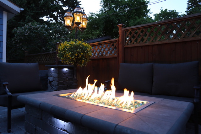 Custom Outdoor Fire Pit from DMS Landscaping and Hardscapes
