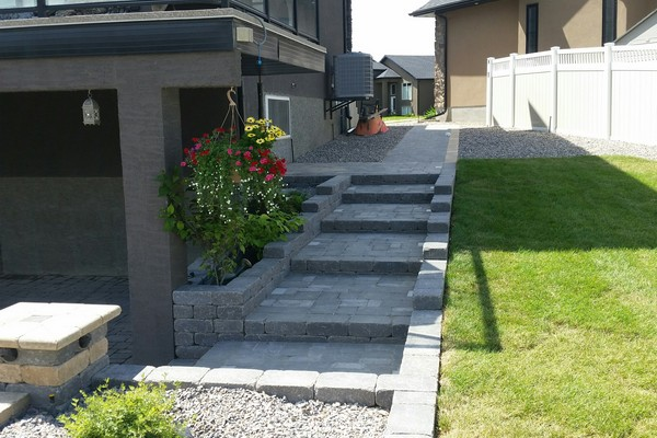 %name Retaining Walls and Stairs