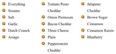 A Full List of Bagels at The Daily Bagel