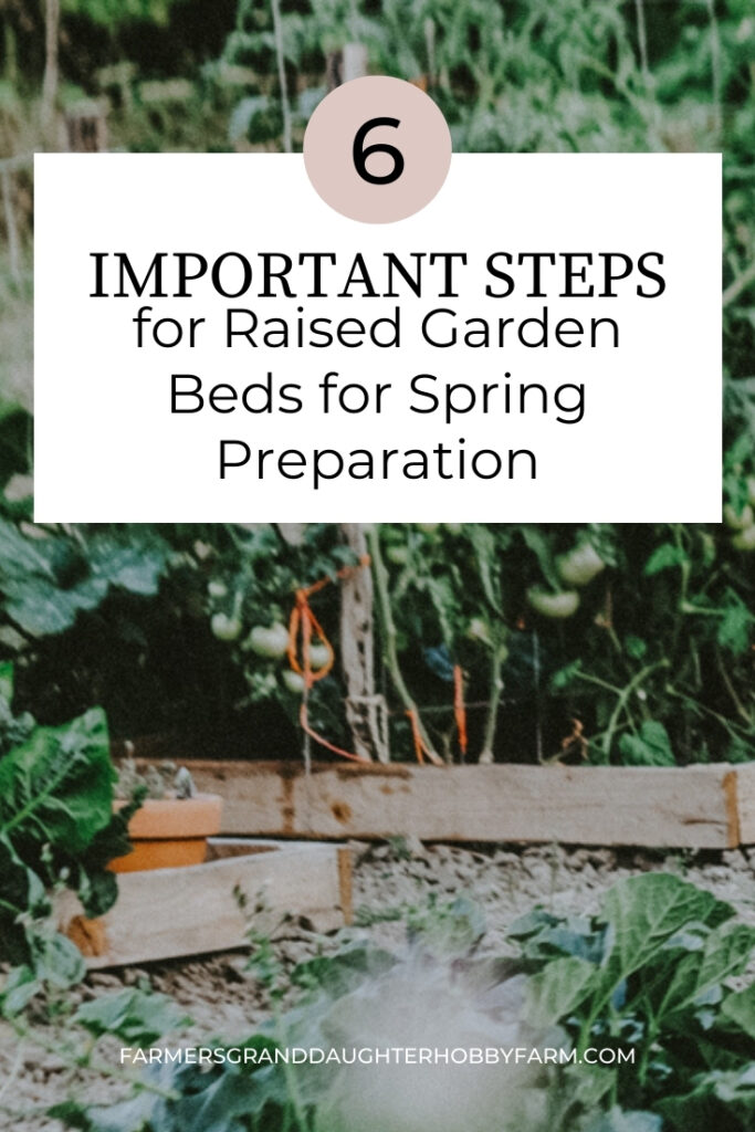 Don't forget these 6 important steps for raised garden beds for Spring preparation! Let's get these raised garden beds ready to grow some vegetables!