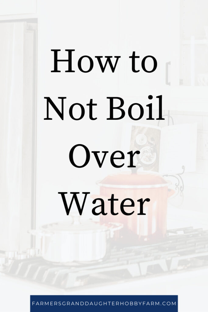 Learn the simple trick to not boil over water! I discovered it by accident, but it works like a charm!