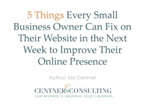 5 Things Every Small Business Owner Can Fix - Centner Consulting