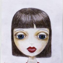 Natasha, colored pencil on vellum, K Hartshorne / K Cook drawing