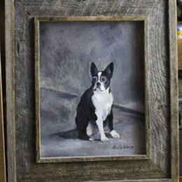 French Bull Terrier, acrylic on canvas, K Hartshorne / K Cook painting