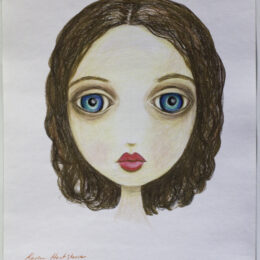 Anna, colored pencil on paper, K Hartshorne / K Cook drawing