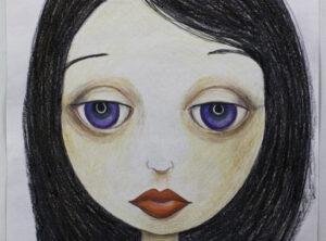 Sonya, colored pencil on paper, K Hartshorne / K Cook drawing