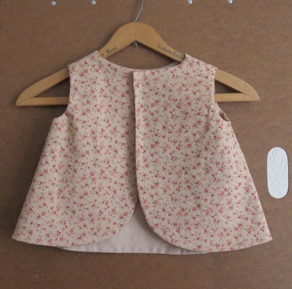 Little Girl's Tea Rose Pinafore Toddler Size 1