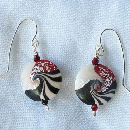Peppermint Vertigo Earrings
