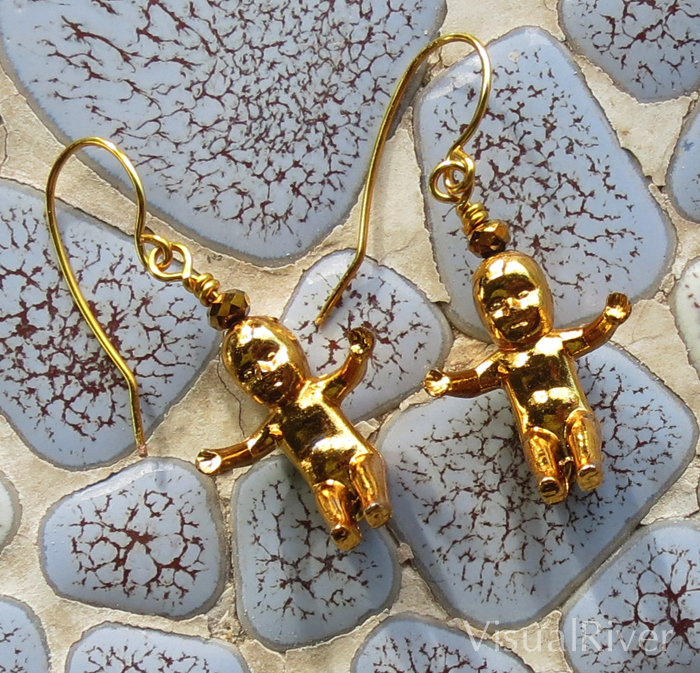 'Gold' King Baby Earrings
