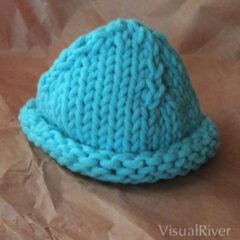 Preemie Baby Hat in Aqua Blue