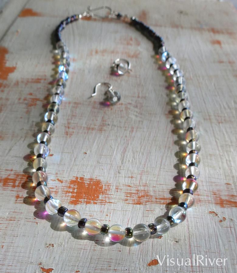 Moon Stone Necklace Set