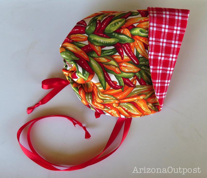 Chili Pepper Baby Bonnet
