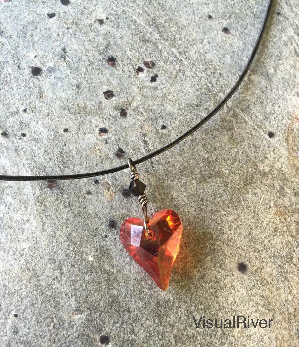 Swarovski Crystal Heart Necklace