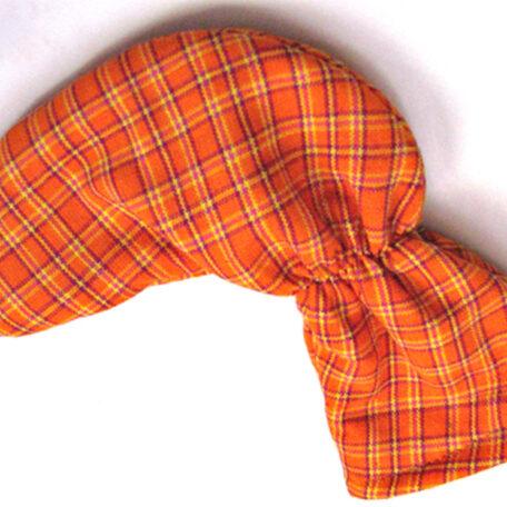 Orange Tartan Plaid Putter Cover