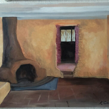 Degrazia's Little House, oil on canvas