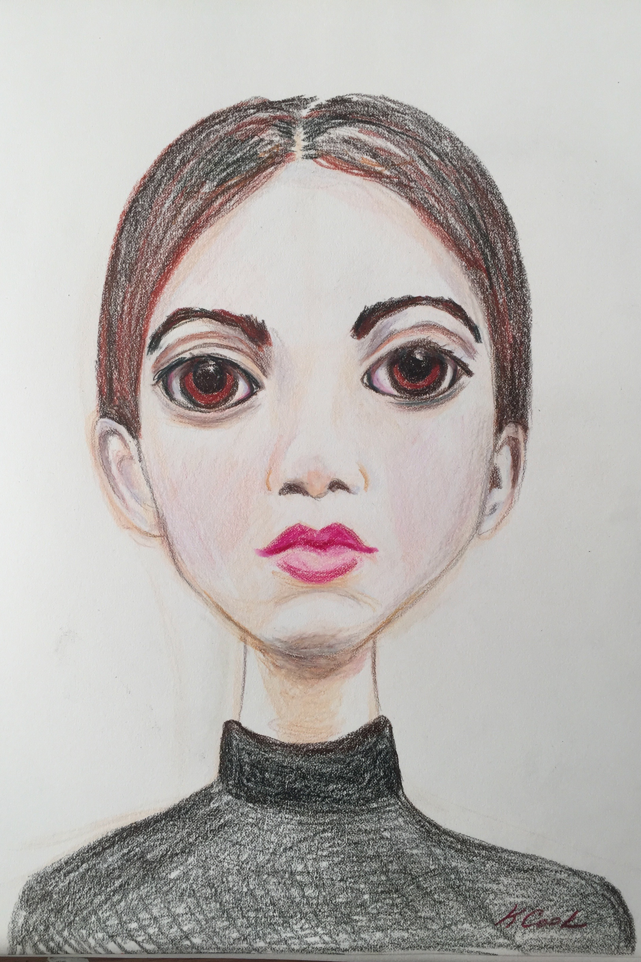 Annika, K Cook, colored pencil drawing 11x14