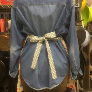Psychedelic Fruit Apron with Polka Dots Sz Small
