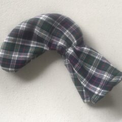 Tartan Plaid Golf Club Putter Cover in Navy, Green, White and Red