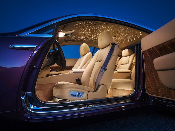 Rolls-Royce Wraith interior and ceiling stars