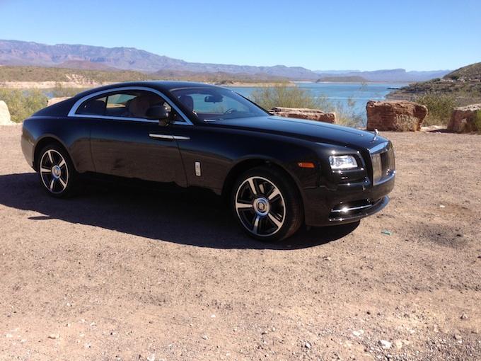 Rolls-Royce Wraith passenger iphone