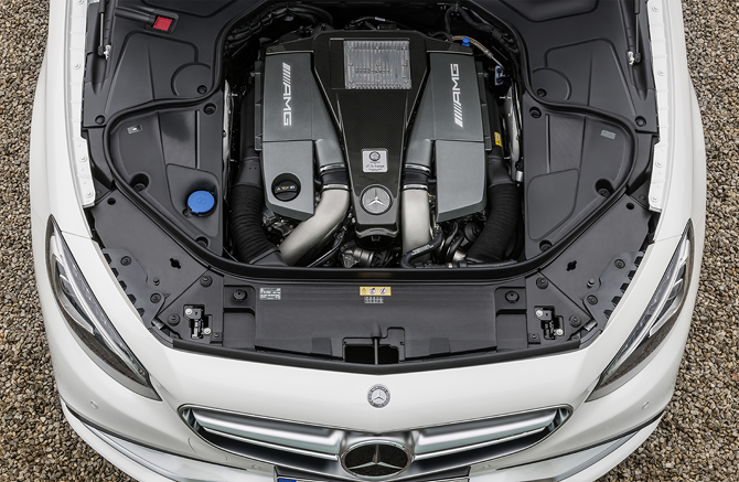 S63 AMG Coupe Engine