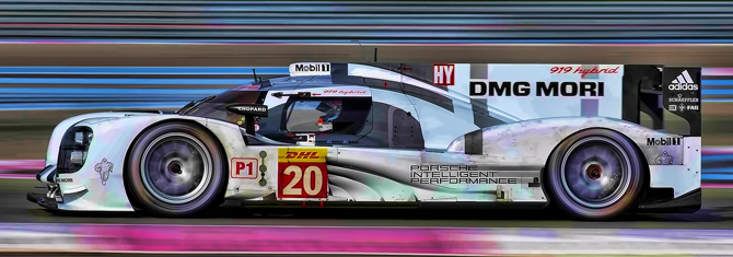 Pual Ricard driving the Porche 919 Hybrid