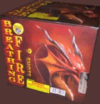 Breathing Fire - 9 Shots - 500 Gram Aerials - Fireworks