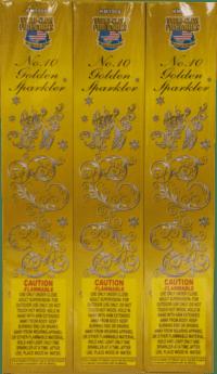 Gold Sparklers - 10 Inch - 96 - Sparklers - Novelties - Fireworks