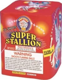Super Stallion - Horse - 16 Shots - 200 Gram Aerials - Fireworks