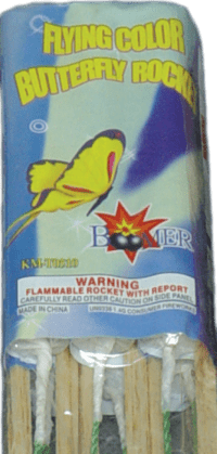 Flying Color Butterfly - Rockets - Bottle Rockets - Stick Rockets - Fireworks