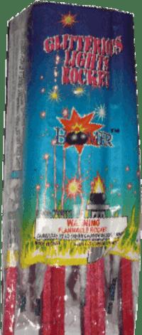 Glitterous Light - Rockets - Bottle Rockets - Stick Rockets - Fireworks