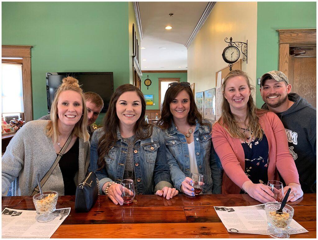 CB Studio Brides Reunion wine tasting event held at Train Wreck Winery in Algona, IA.