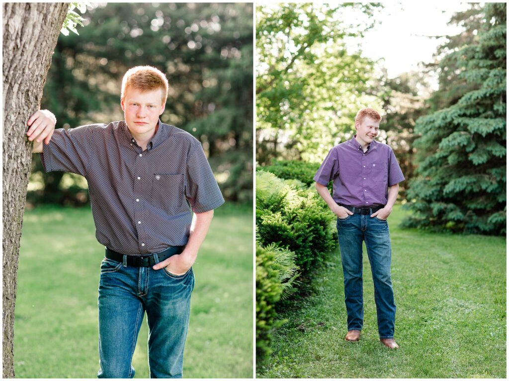 Farm themed senior session | Iowa Senior Photographer | CB Studio