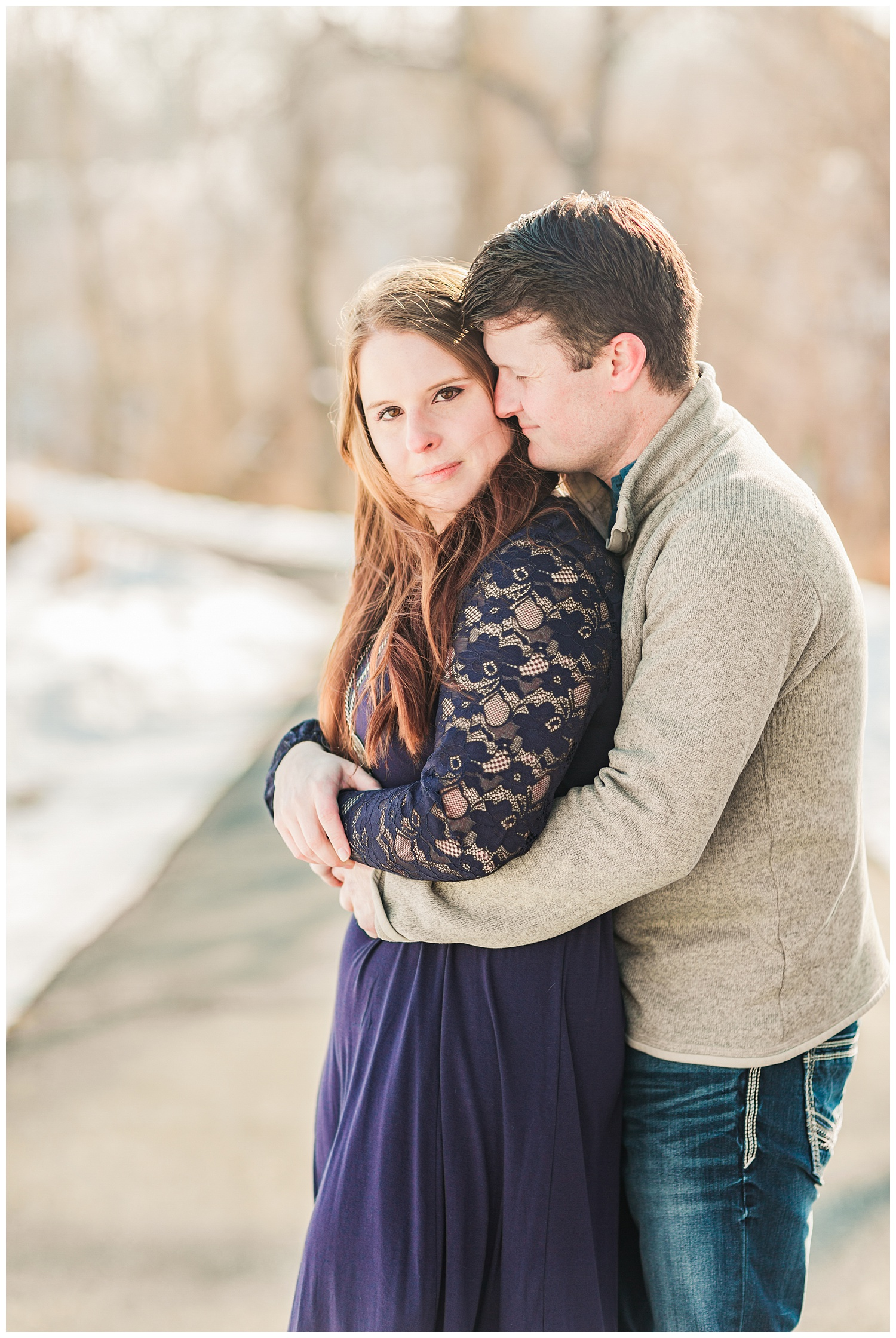 Snowy Engagement Session in Iowa with Hannah and Chris   CB Studio