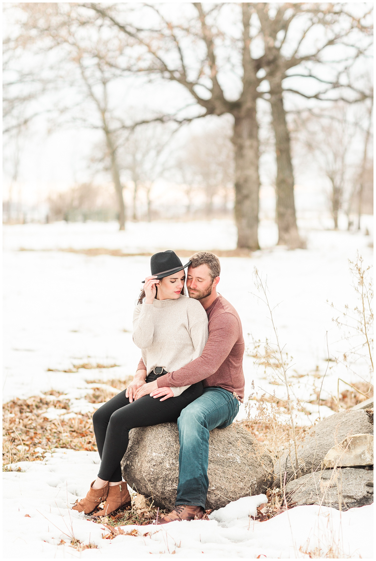 Iowa snowy winter engagement session with Renee and Cody | CB Studio
