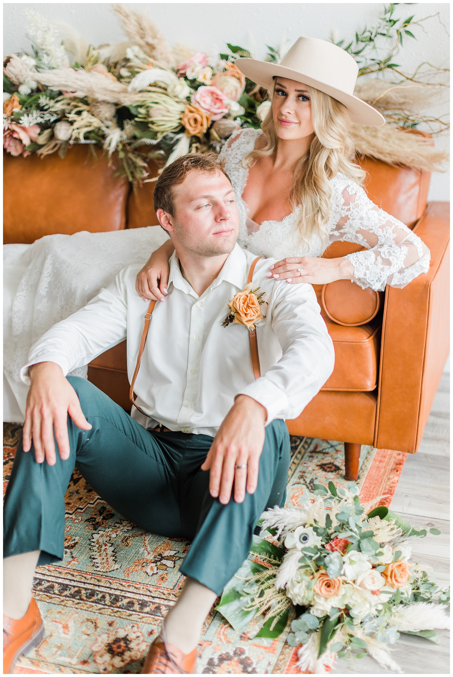 Vibrant vintage styled wedding shoot with Casablanca gown and Gigi Pip hat | CB Studio