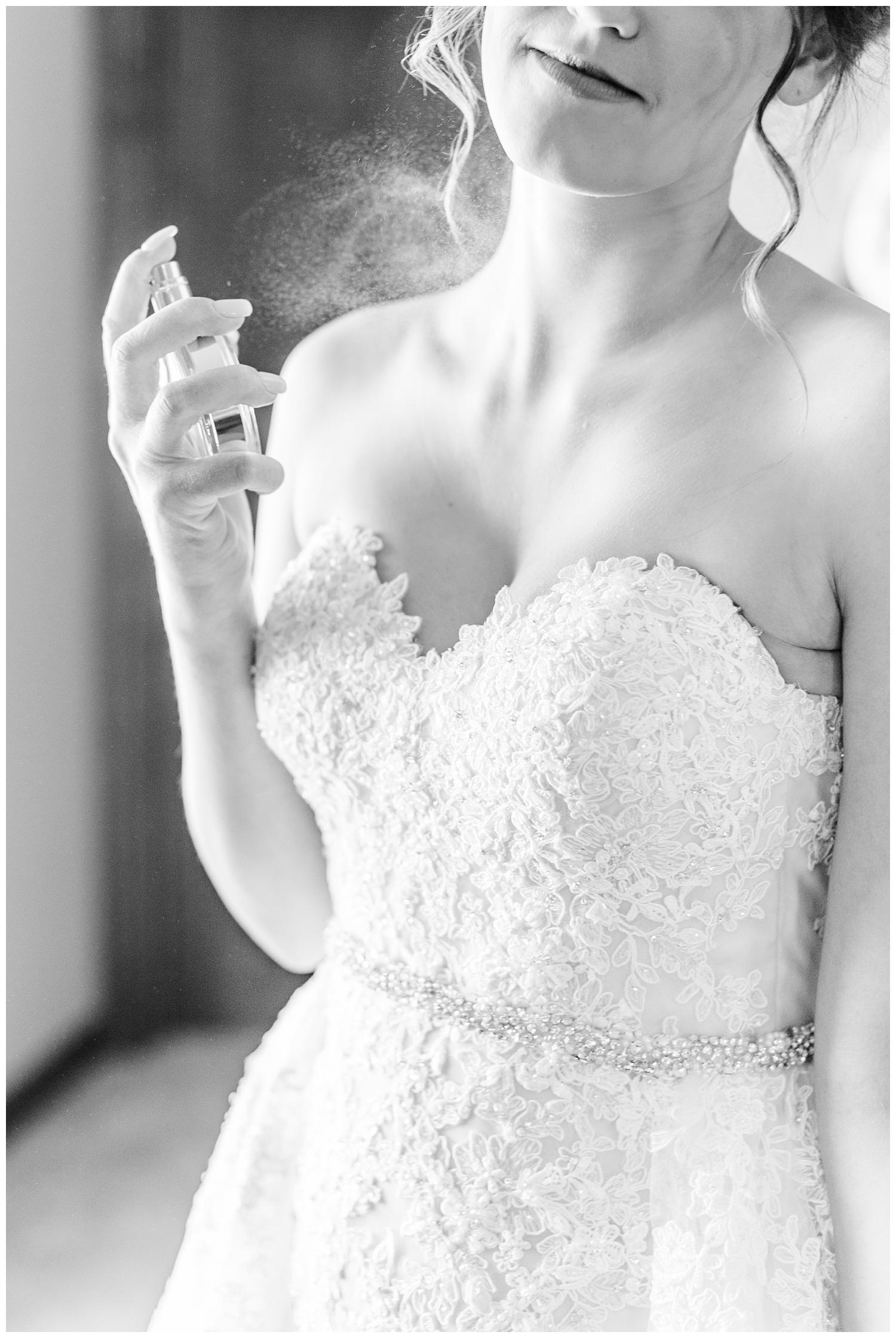 Bride Jenna sprays Chanel Chance before she meets her groom   CB Studio