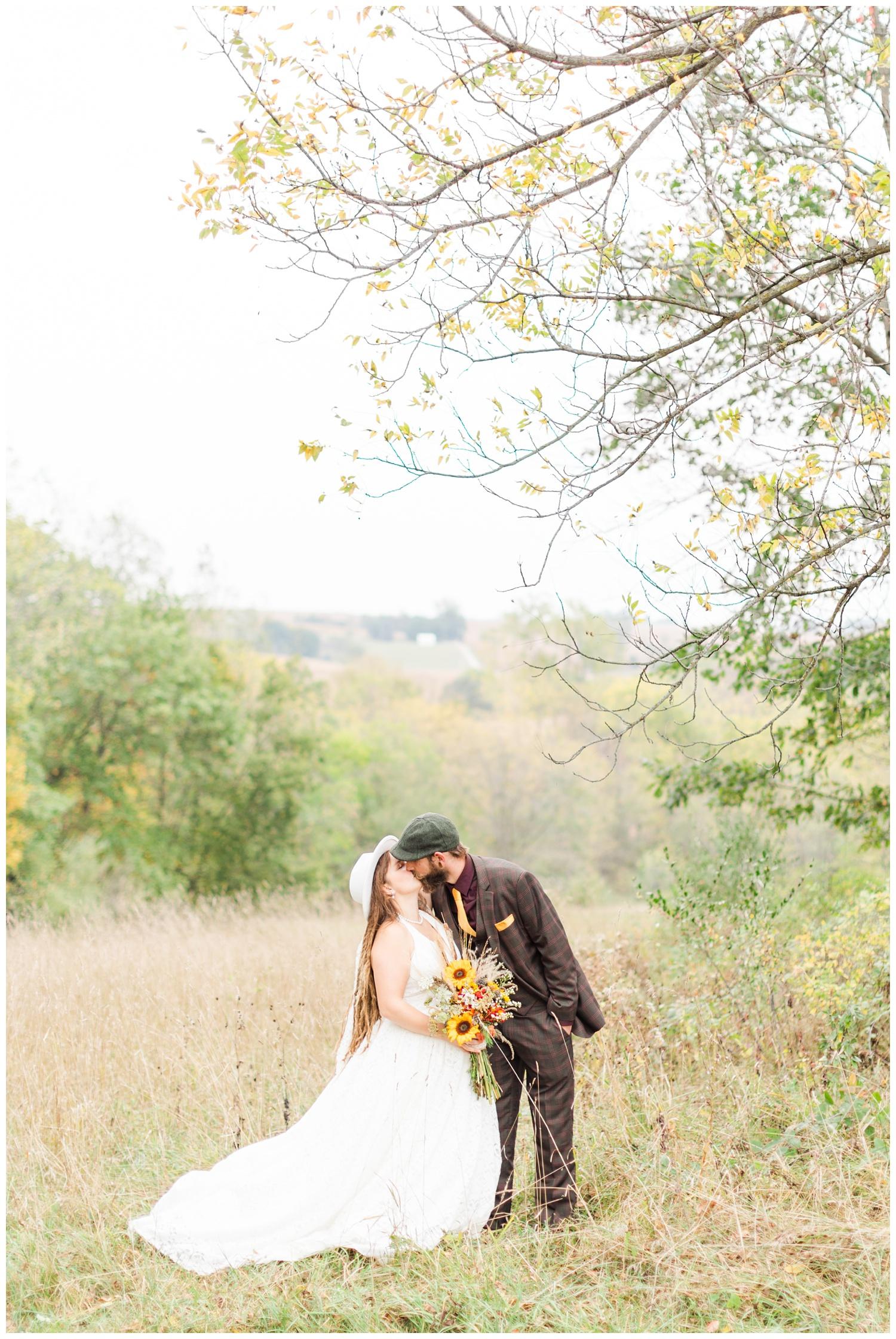 Authentic Boho Hippie wedding in central Iowa   CB Studio