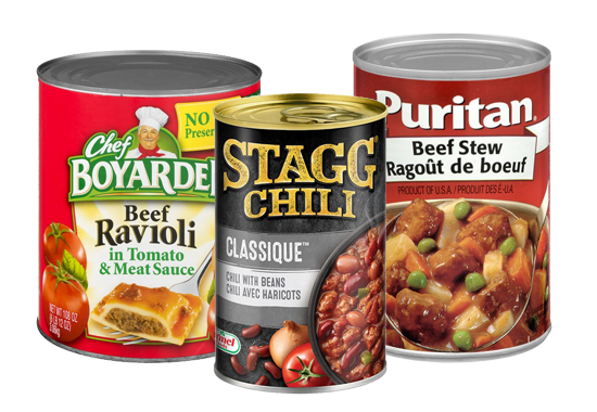 Canned Pasta & Stews