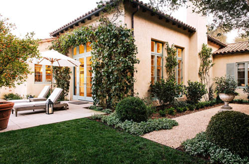 Ivy Walls and Topiary Montecito