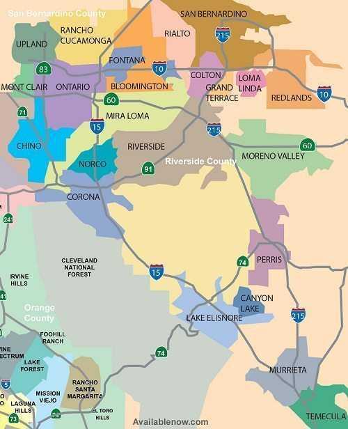 sERVICE AREA MAP INLAND EMPIRE