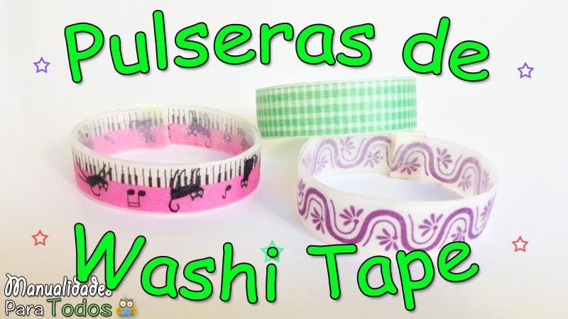 Pulseras de Washi Tape
