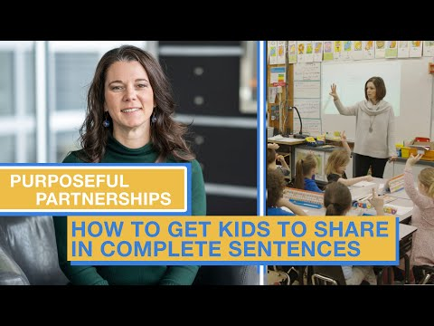 The Key to Teaching Kids to Speak and Write in Complete Sentences