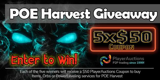 POE Harvest Giveaway