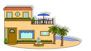 clipart of a beach house